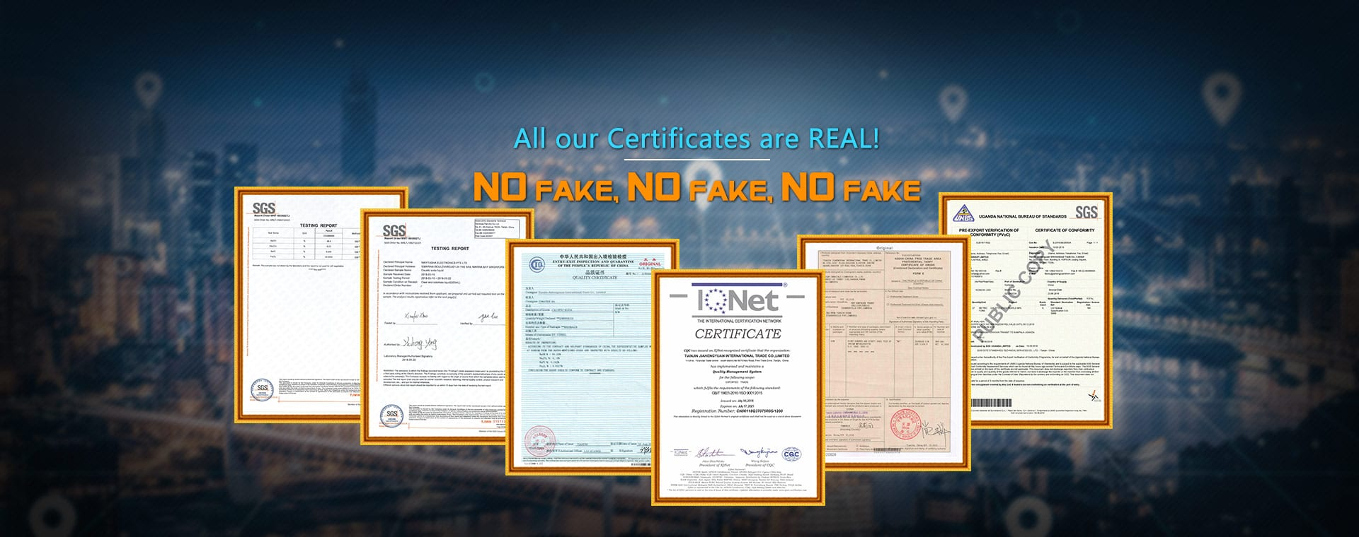 All our Certificates are REAL!